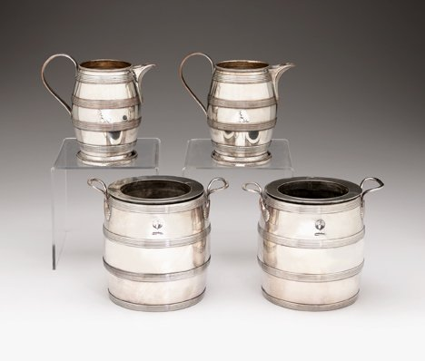 1095: Pair of Sheffield silver plated wine coolers, lat
