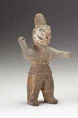 2014: Chinese Han figure, han dynasty, Heavily potted s
