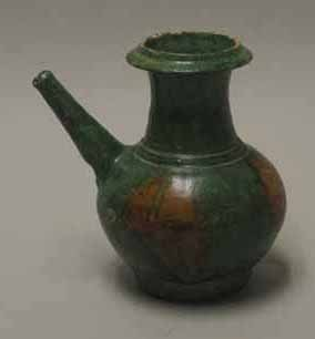 2018: Chinese sancai glazed ewer, tang dynasty, Potted