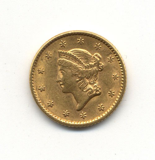 16: AN 1852 TYPE I U. S. GOLD DOLLAR
