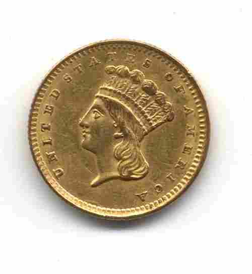 AN 1856 U. S. TYPE III GOLD DOLLAR