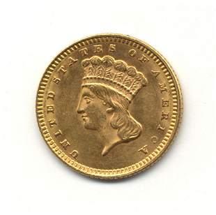AN 1873 U. S. TYPE III GOLD DOLLAR