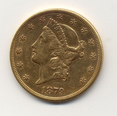 20: AN 1879-S U. S. TWENTY DOLLAR GOLD PIECE