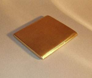 A 10K YELLOW GOLD ENGLISH CIGARETTE CASE