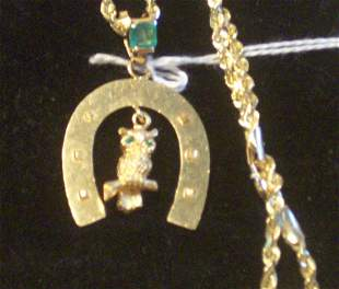 A 14K YELLOW GOLD ROPE NECKCHAIN