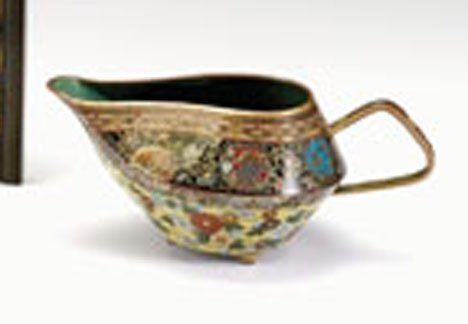 10703: Japanese cloisonne creamer, in the style of Nami