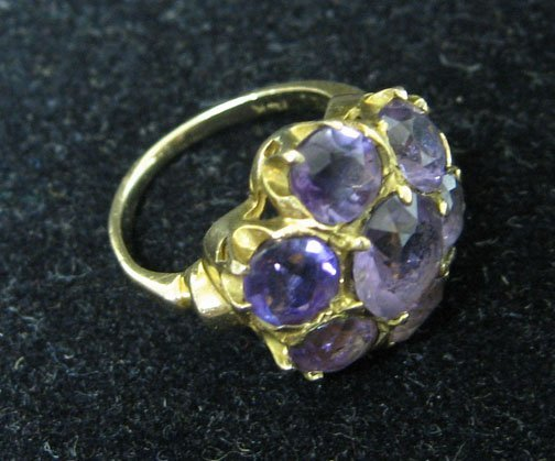 2: Amethyst cluster ring, 1900s, Amethyst cluster ring
