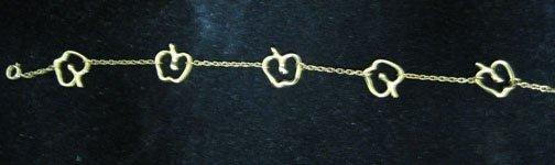 "3: Tiffany 18K bracelet apples"" Elsa Peretti, , 4.24 dw"