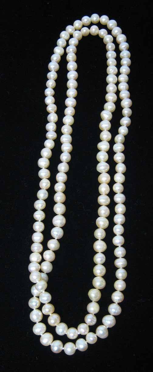 16: Lady's Pink Single Strand Necklace, , L: 19 1/2 in.