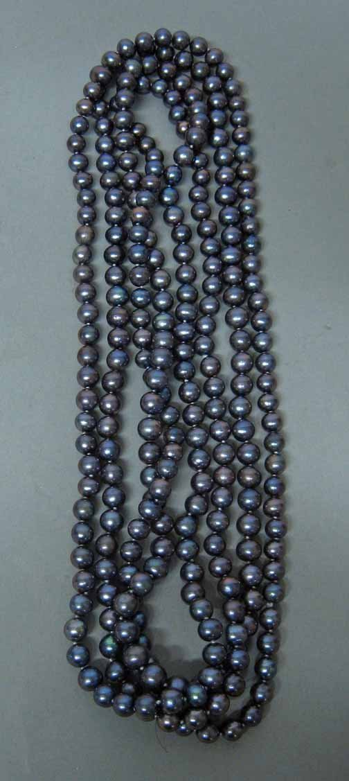 18: Lady's Grey Pearl Opera Length Necklace, , L: 41 in