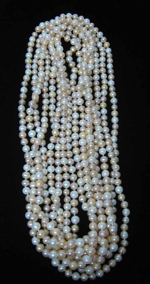 20: Pink Opera Length Pearl Necklace, , L: 40 in.