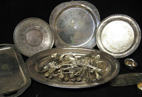 39: Group of silver plate flatware and holloware, , Inc