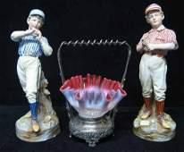 234: Three piece Decorative Group, , Including a pair o