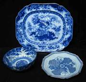241: Three piece Blue and White China, , Including a la