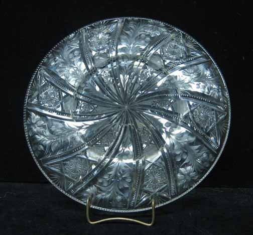 457: Tuthill brilliant cut glass dish, 20th century, Wi