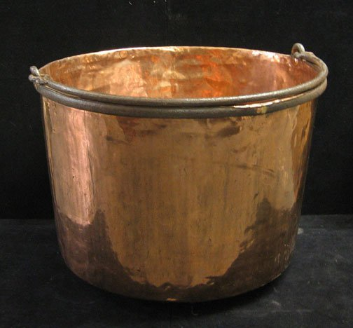 594: A Copper Apple Kettle, , Styled with an iron bail