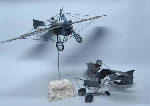596: Three piece Airplane Lot, , Including a handmade U