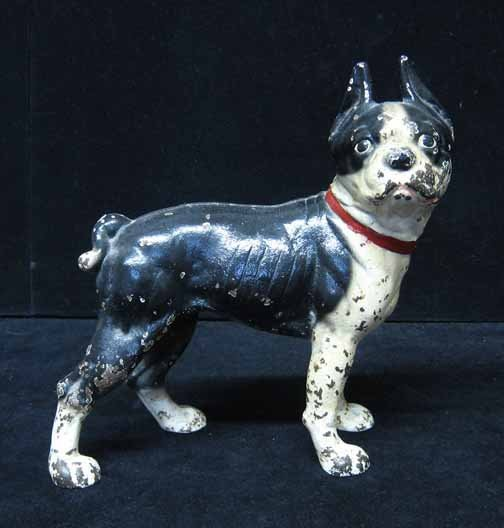 604: A Cast Iron Boston Terrier Door Stop, , Early 20th