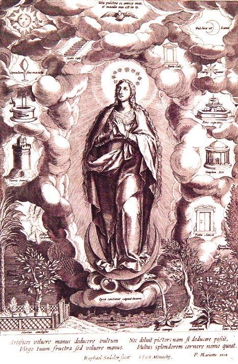 2: RAPHAEL SADELER I (Flemish 1561-1632) Allegory of th