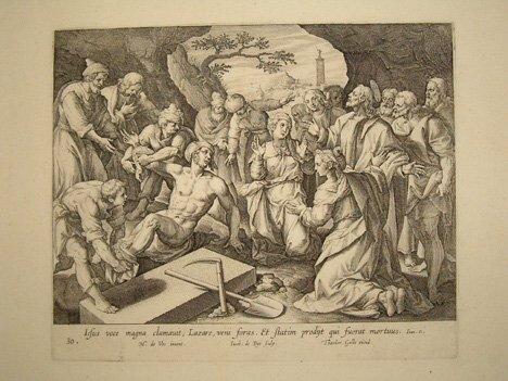 4: (AFTER) MARTEN DE VOS  (Flemish 1532-1603) Three eng