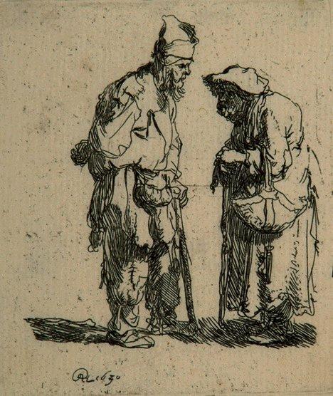 7: REMBRANDT HARMENSZ VAN RIJN (Dutch 1606-1669) Beggar