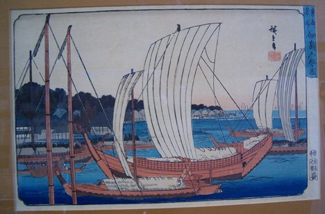 11: ANDO HIROSHIGE (Japanese 1797-1858) Two color woodc
