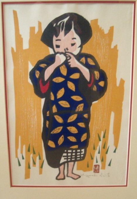 19: KIYOSHI SAITO (Japanese 1907-1997) Two prints. Chil