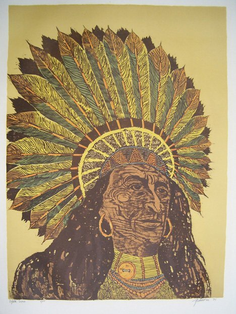 112: ANTONIO FRASCONI (American b. 1919) Five color lit