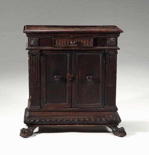 5: Italian walnut small side cabinet, 17th century, The