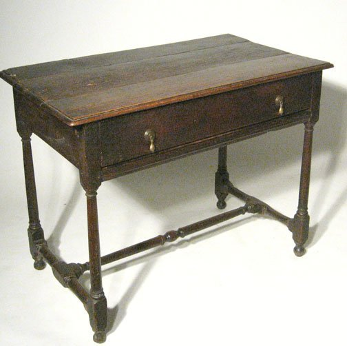 12: Provincial William and Mary oak work table, , The r