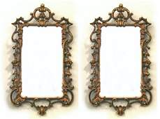 62: Pair George II style giltwood mirrors, , Each with