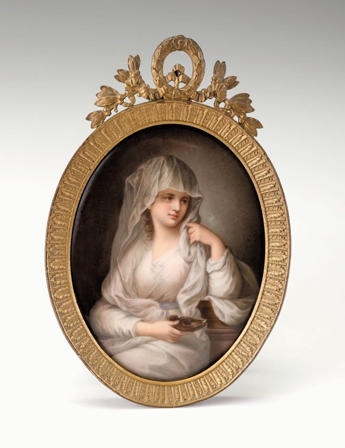 639: Berlin porcelain plaque, late 19th/early 20th cent