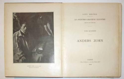 1012: 1 vol. Delteil, Loys. Anders Zorn. Paris, 1909. L
