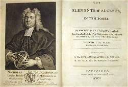 1424: 2 vols. Saunderson, Nicholas. The Elements of Alg