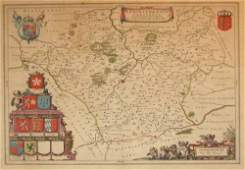 1571 1 piece HandColored Engraved Map Blaeu Willi