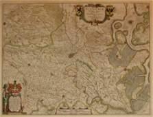 1576 1 piece HandColored Engraved Map Blaeu Willia