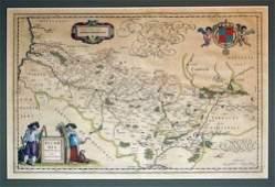 1578 1 piece HandColored Engraved Map Blaeu Willi