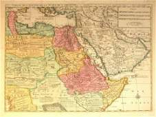 1597: 1 piece. Hand-Colored Engraved Map. Elwe, Jan B.