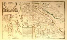 1598 1 piece Engraved Map with Outline Color Fer Ni