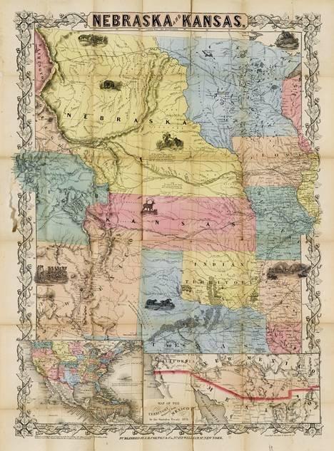 1610: 1 piece. Hand-Colored Fold. Map. Colton, J.H., pu