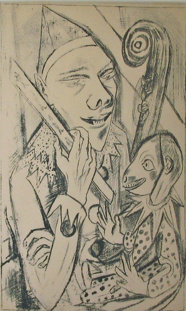 2009: TWO PRINTS MAX BECKMANN, (GERMAN 1884-1950), PIER