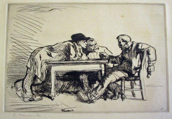 "2013: EDMUND BLAMPIED, (BRITISH 1886-1966), ARGUMENT"""""
