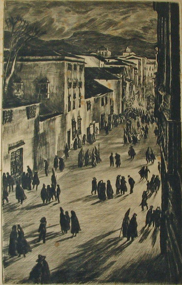 2014: MUIRHEAD BONE, (BRITISH 1876-1953), A SPANISH GOO