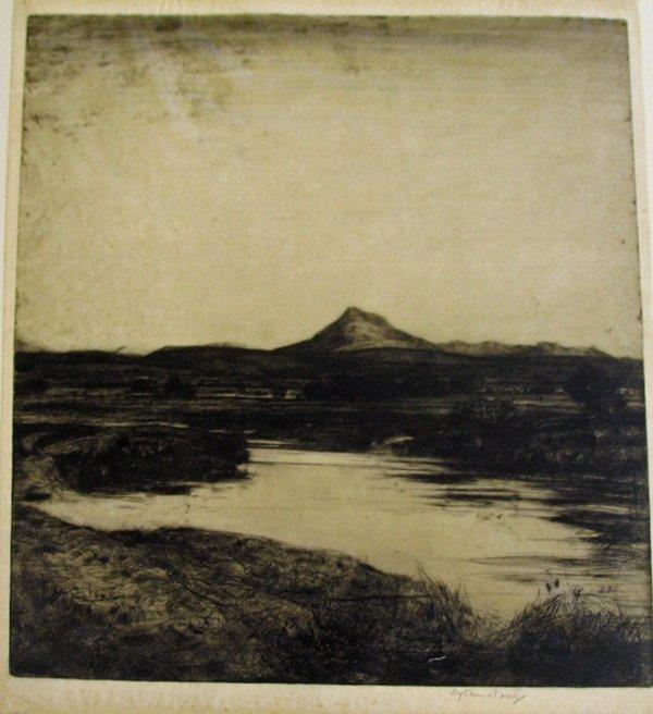2017: DAVID YOUNG CAMERON, (SCOTTISH 1865-1945) TWO ETC