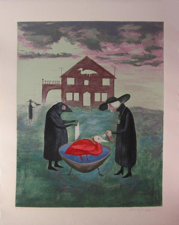 "2020: LEONORA CARRINGTON, (BRITISH B. 1917), BIRD BATH"""