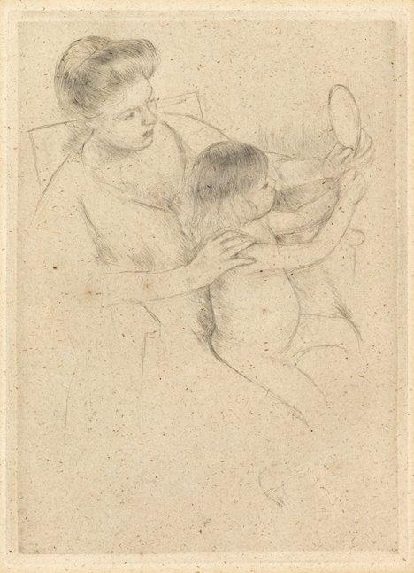 2022: MARY CASSATT, (AMERICAN 1844-1926), LOOKING INTO