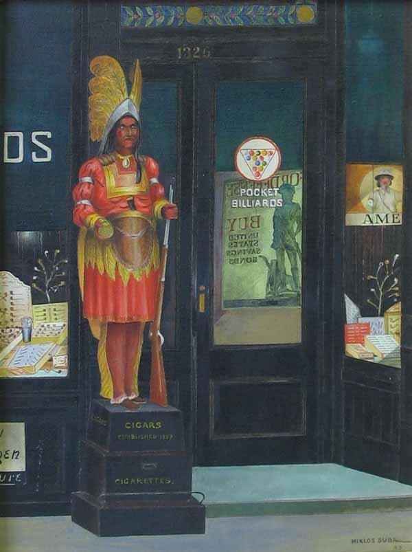 2262: MIKLOS SUBA, (AMERICAN 1880-1944), CIGAR STORE IN