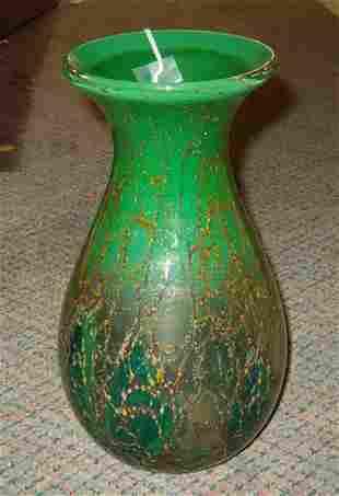 ART GLASS VASE The large art glass vase with vari