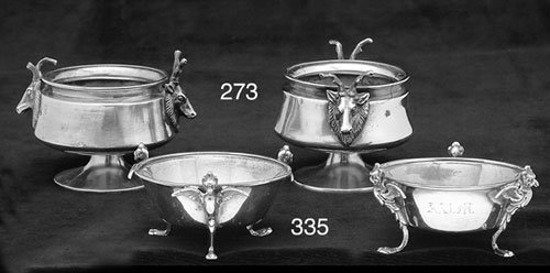 273: A PAIR OF AMERICAN SILVER OPEN SALT CELL
