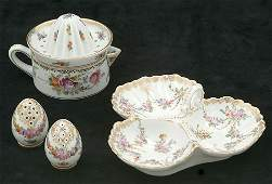 475 A GROUP OF FOUR DRESDEN PORCELAIN SMALL